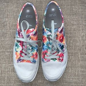 EUC ARA Floral Pattern Sneakers Size US - 10.